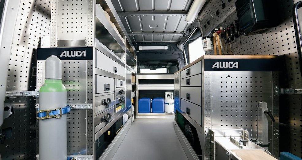 ALUCA aluminium bedrijfswageninrichting
